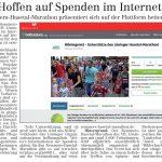 zum Bild:Bericht im Volltreffer - der Lokalzeitung vom 14.05.2020.