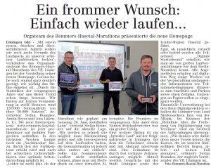 Bericht im Volltreffer - die kostenlose Lokalzeitung, vom 18.03.2021.