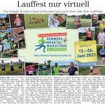 zum Bild:Bericht im Volltreffer – die kostenlose Lokalzeitung, vom 15.04.2021.
