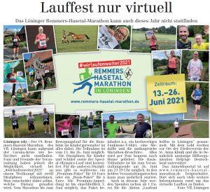 zum Bild:<br>Bericht im Volltreffer – die kostenlose Lokalzeitung, vom 15.04.2021.