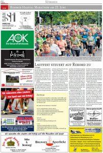 zum Bild: Bericht Cloppenburger Wochenblatt vom 19.06.2019, Seite 1.