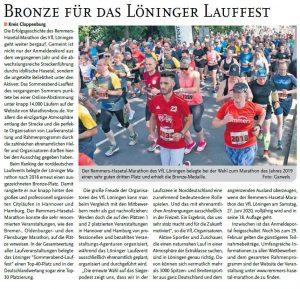 zum Bild: Bericht im Cloppenburger Wochenblatt vom 22.01.2020.