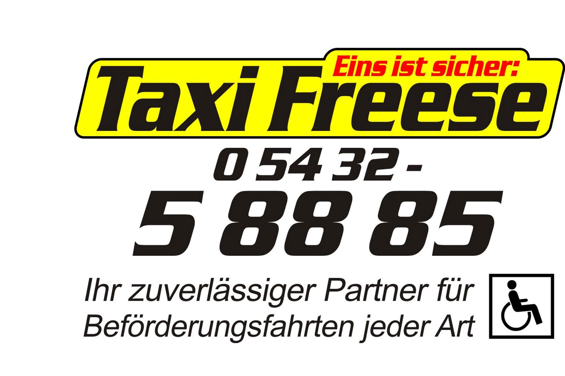 zum Bild:Logo Taxi Freese.