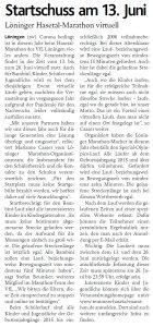 zum Bild:<br>Bericht der Münsterländischen Tageszeitung vom 29.04.2021.