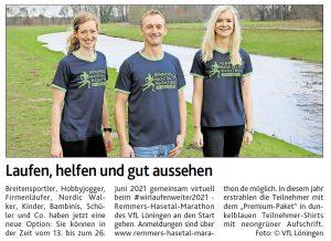 zum Bild:<br>Bericht der Münsterländischen Tageszeitung vom 05.05.2021.