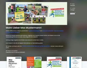 """zum Bild:Eine Vorschau auf den neuen """"Digitalen Starterbeutel"""" beim Remmers-Hasetal-Marathon des VfL Löningen."""