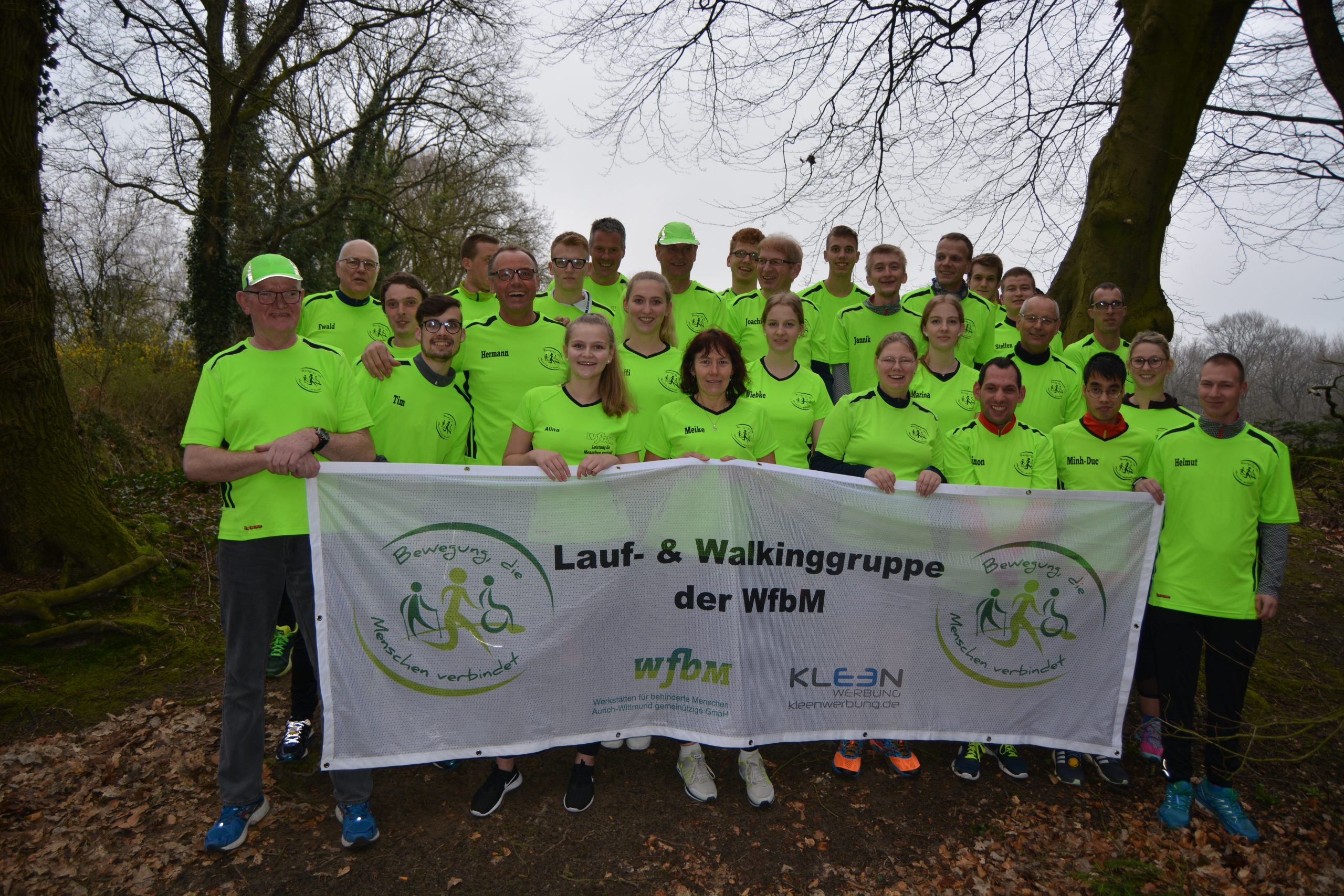 zum Bild:Mannschaftsfoto der wfbm Aurich-Wittmund gGmbH.ld der
