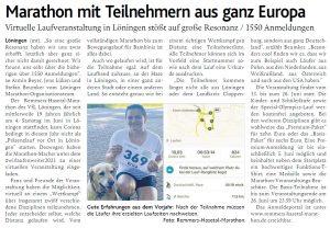 zum Bild:<br>Bericht der Münsterländischen Tageszeitung vom 27.05.2021.
