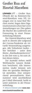 zum Bild:<br>Bericht der Nordwest-Zeitung vom 07.05.2021.