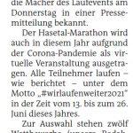 zum Bild:Bericht der Nordwest-Zeitung vom 07.05.2021.
