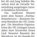 zum Bild:Bericht der Nordwest-Zeitung vom 21.05.2021.