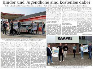 zum Bild:<br>Bericht im Volltreffer – die kostenlose Lokalzeitung, vom 27.05.2021.