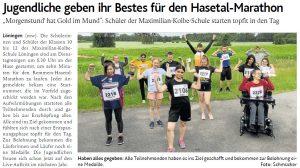zum Bild:Bericht der Münsterländischen Tageszeitung vom 18.06.2021.