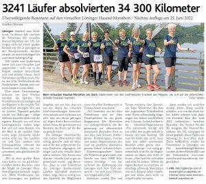 zum Bild:<br>Bericht der Münsterländischen Tageszeitung vom 29.06.2021.